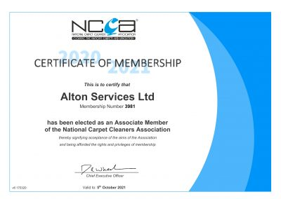 Certificate Alton Cleaning-1
